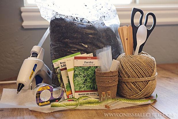 Herb Pot Favor Tutorial Materials Needed