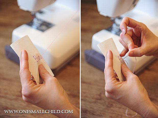 Lavender Sachet Tutorial Stitching