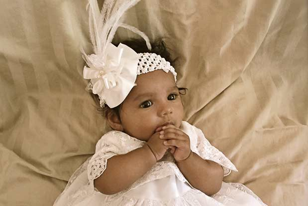 Lillian Christening Gown with Preslee Headband